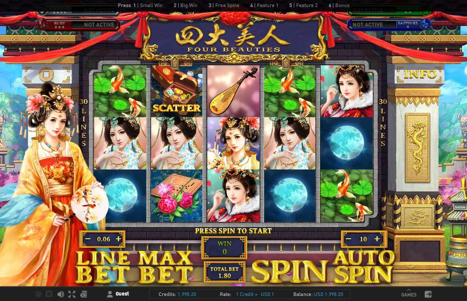 Spiele Four Beauties - Video Slots Online