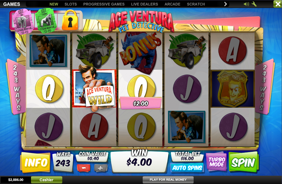 Play Ace Ventura Slot at Casino.com Canada