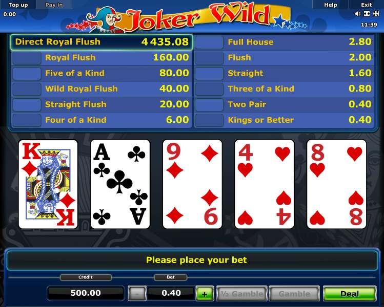 Free Jokers Wild Poker