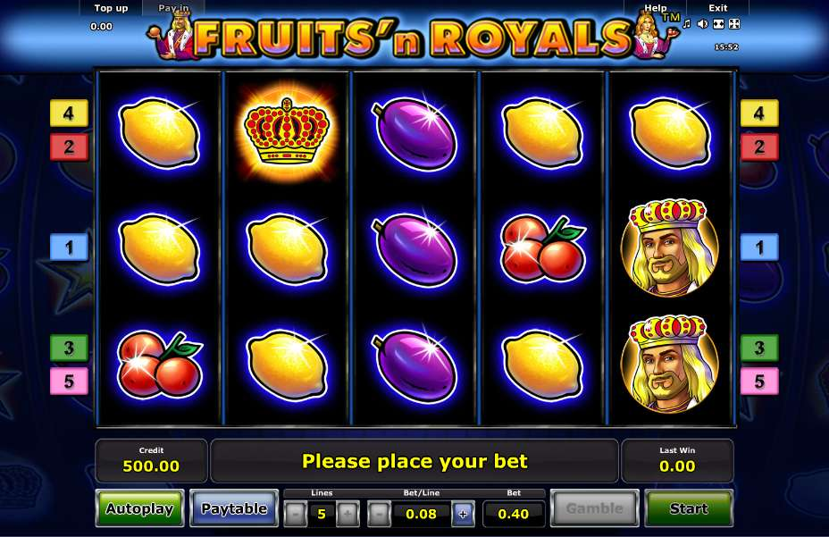 Fruits N Royals Slot Game - Play For Free!