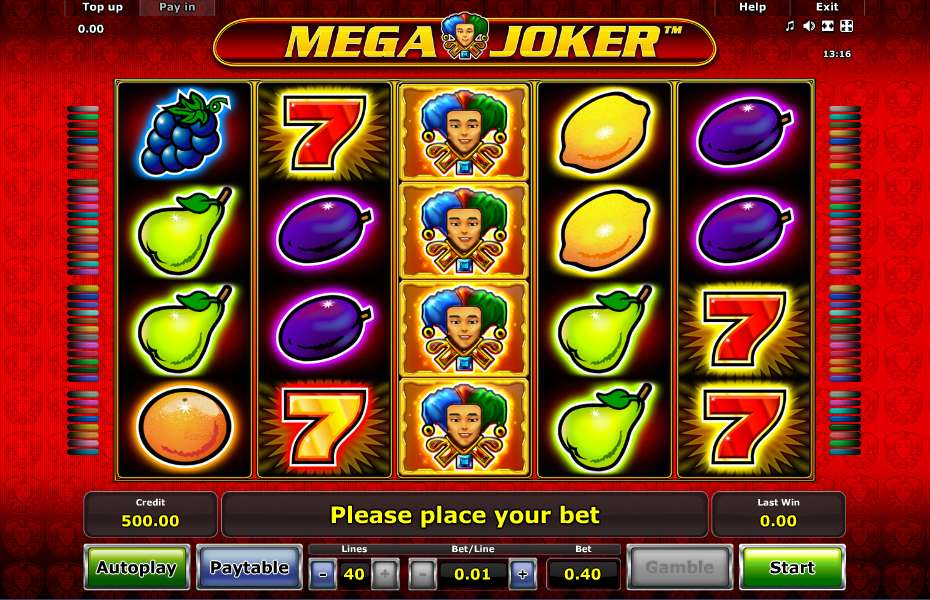 play casino online for free mega joker