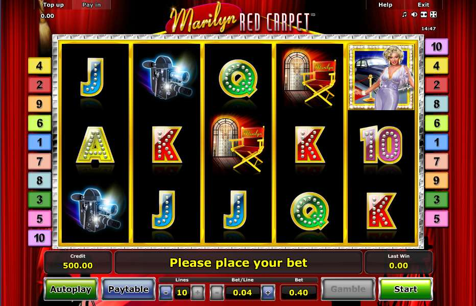Marilyn Red Carpet Slots – Free to Play Online Casino Games