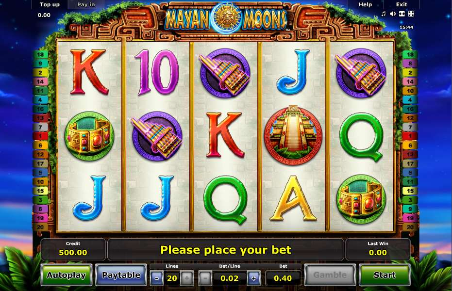 Mayan Moons™ Slot Machine Game to Play Free in Novomatics Online Casinos