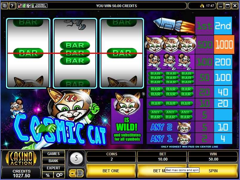 Cosmic Cat Slot - Play the Microgaming Casino Game for Free