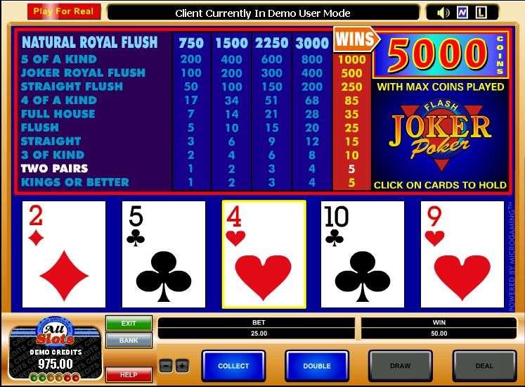 Play Joker Poker Video Poker from MicroGaming for Free