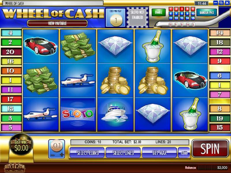 Free slots wheel of cash