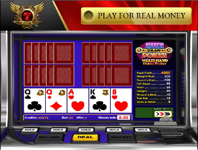 Play Five Draw Poker Video Poker From Betsoft For Free