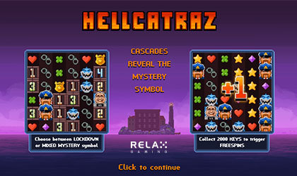 Organize the Great Escape in Hellcatraz by Relax Gaming