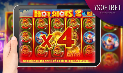 iSoftBet Releases the Much Anticipated Hot Shots 2 Slot