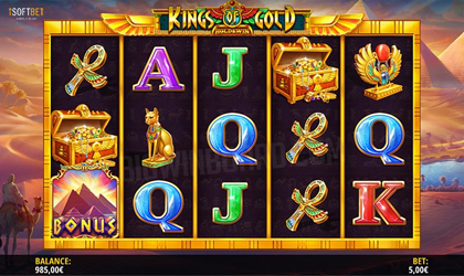 iSoftBet Launches Egyptian Themed Slot Kings of Gold
