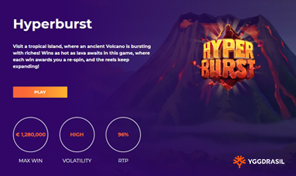 Yggdrasil Releases Hot Adventure Hyper Burst
