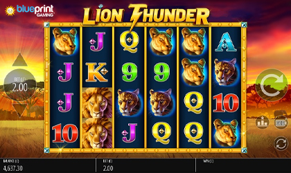 Blueprint Launches Another Boost Mechanic Slot Lion Thunder