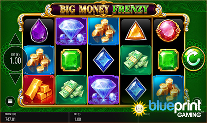 Blueprint Gaming Live with Old School Slot Big Money Frenzy