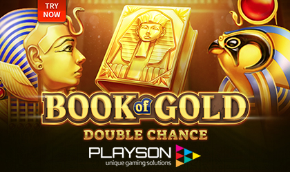 Special Symbols Lead to Expanding Symbols and Big Wins with Book of Gold Double Chance