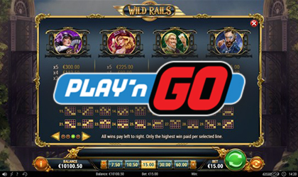 Play n GO Expands Their Portfolio with Wild Rails Slot Release