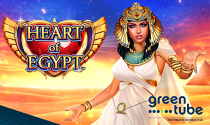 Greentube Goes Live with Heart of Egypt Slot and Reignites the Mysteries of Pharaohs