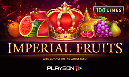 Playson Pumps Up its Popular Imperial Fruits Slot with 100 Lines