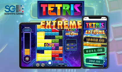 Iconic Game Tetris Reinvented in Scientific Games Tetris Extreme Slot